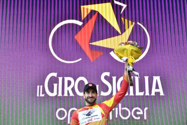 Foto LaPresse - Fabio Ferrari 3 Aprile 2019 Milazzo (Italia) Sport Ciclismo Il Giro di Sicilia 2019 - Tappa 1 - Da Catania a Milazzo - km 165 Nella foto: STACCHIOTTI Riccardo (ITA) (GIOTTI VICTORIA)  vincitore di tappa  Photo LaPresse - Fabio Ferrari April 3, 2019 Milazzo (Italy)  Sport Cycling Il Giro di Sicilia - Stage 1 - From Catania to Milazzo - 102,5 miles In the pic: STACCHIOTTI Riccardo (ITA) (GIOTTI VICTORIA)