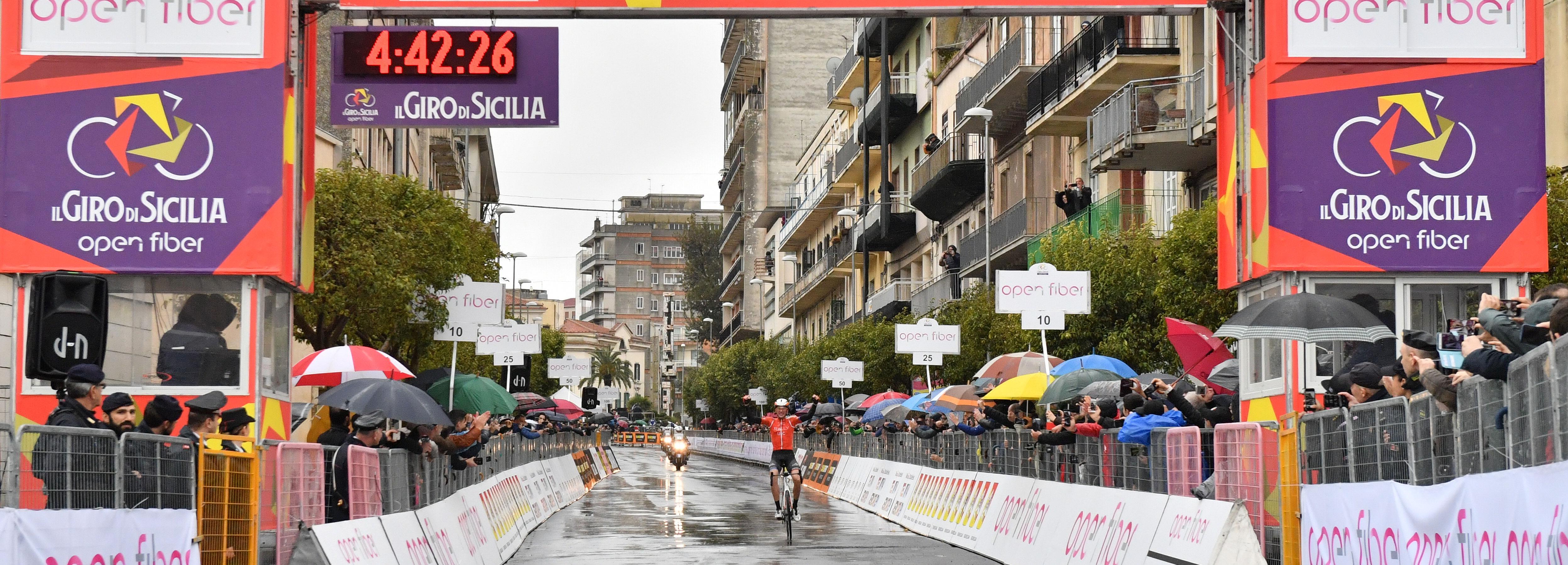 Brandon McNulty vince a Ragusa la terza tappa de Il Giro di Sicilia Open Fiber 2019