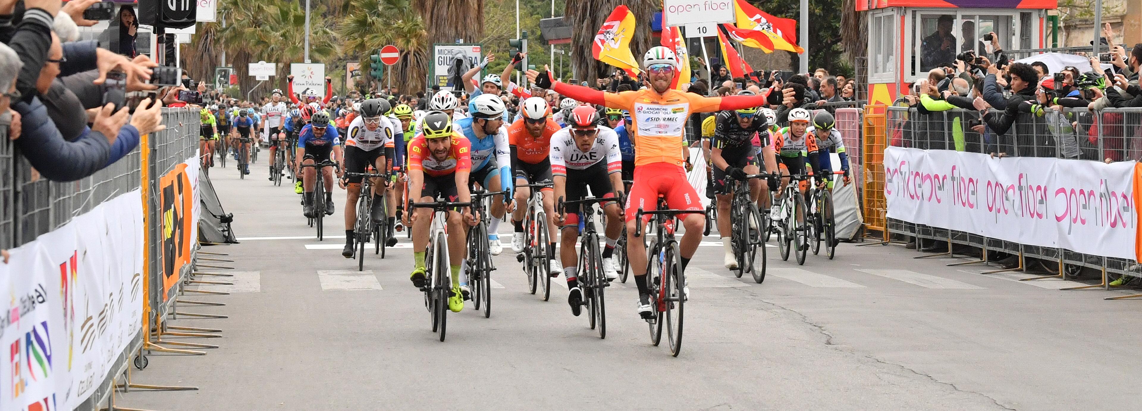 Belletti vince la seconda tappa de Il Giro di Sicilia Open Fiber 2019
