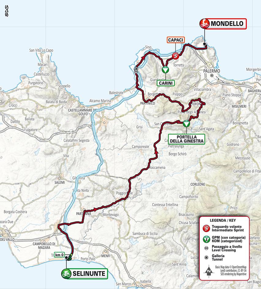 Tappa 2 de Il Giro di Sicilia 2021: Selinunte (Castelvetrano), Mondello (Palermo) Stage 2