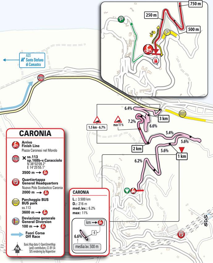 Arrivo Tappa 3 Il Giro di Sicilia EOLO