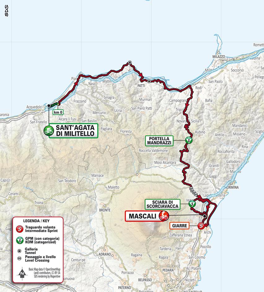 Tappa 4 de Il Giro di Sicilia 2021: Sant'Agata di Militello, Mascali stage 4
